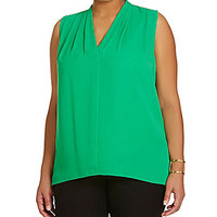 Vince Camuto Plus Pleated Blouse