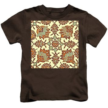 An Ottoman Iznik Style Floral Design Pottery Polychrome, By Adam Asar, No 13b - Kids T-Shirt