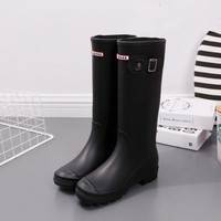Rain Boots,  Black Galoshes, Rubber Boots