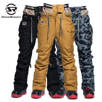 StormRunner 2017 winter new style Men snow pants  winter pants sport pants for boys