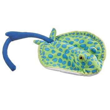 """8"""" Blue-Spotted Ray Small Stuffed Animals Floppy Ocean Conservation Collection"""