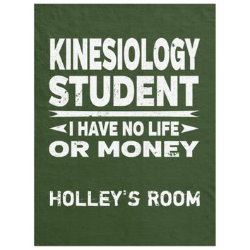 Kinesiology College Major No Life or Money Fleece Blanket