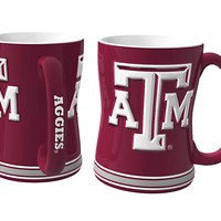 Texas A&M Aggies 3D Coffee Mug - 14oz Sculpted Relief