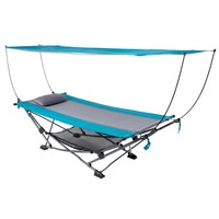 Folding Hammock with Removable Canopy - Collapsible Frame with Carry Bag