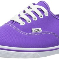 Vans Authentic Lo Pro Skate Shoes (Neon) Electric Purple, 5.5 Mens / 7 Womens