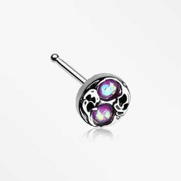 Tao Filigree Opal Sparkle Nose Stud Ring