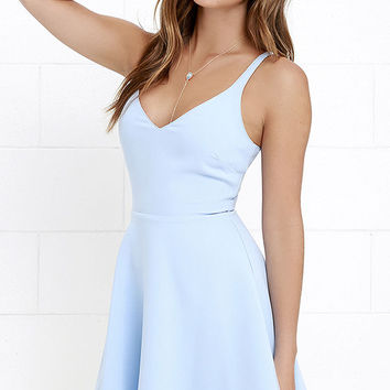 Dandelion Days Periwinkle Skater Dress