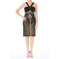 Sue Wong Womens LAce Embellished Cocktail Dress
