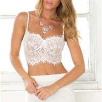 Ooh La La Bustier in White Lace