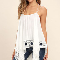 Castanets White Lace Top