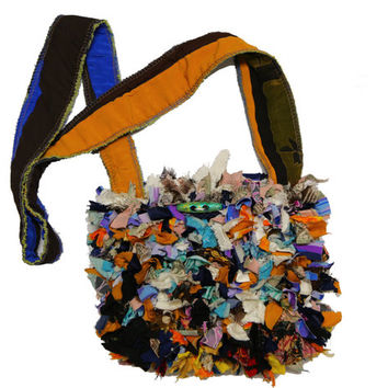 Rag Purse/Cross body purse/Mardi Gras