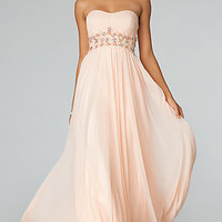 Empire Waist Long Flowing Prom Gown from JVN by Jovani