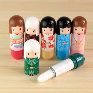 1pc Lovely Puppet Lipstick Clear Lip Balm Cream Lip Gloss Makeup Tool (Random Pattern Sent)