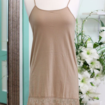 Lace Dress Extender {Almond}