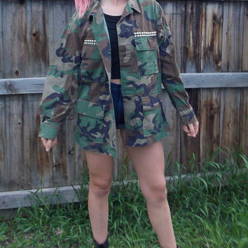 Army Jacket Studded Pockets