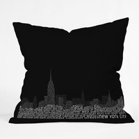 Restudio Designs New York Skyline 2 Throw Pillow