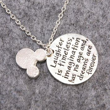 Minnie & Mickey Mouse Necklace