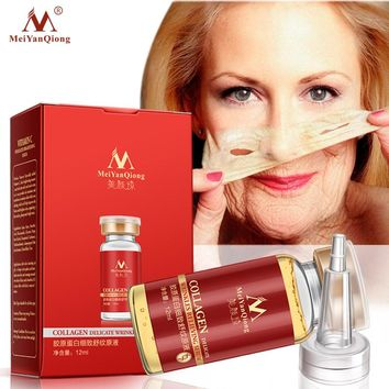Collagen Argireline+aloe vera+collagen rejuvenation anti wrinkle Serum for the face skin care products anti-aging 12ML