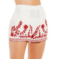 GB Solid Embroidered Short Cover Up | Dillard's
