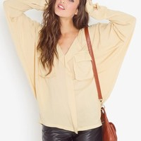 Utility Batwing Blouse