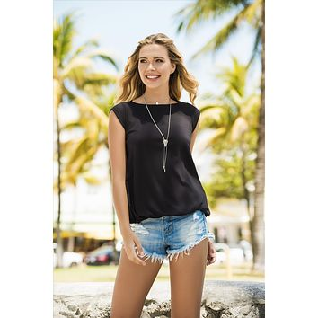 Cute Black Summer Top Dress