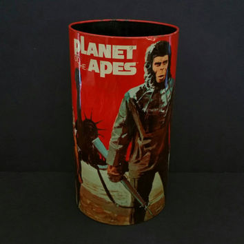 1967 Planet of the Apes Collectible Waste Bin