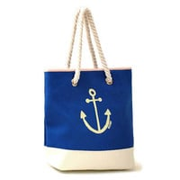 Nautical Anchor Preppy Shoulder Bag