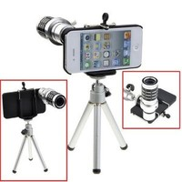 12x Zoom Telescope Camera Lens Kit + Tripod + Case For Apple iPhone 4 4S