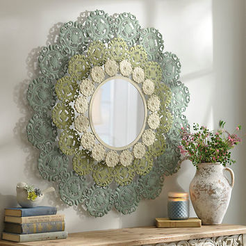 Leila Metal Lace Mirror | Kirklands
