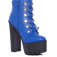 Rocker17 Platform Booties - Blue from Bumper at ShopRoxx.com