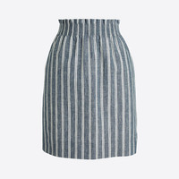 Herringbone striped sidewalk mini skirt