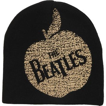 Beatles Men's Vintage Apple Records Beanie Black