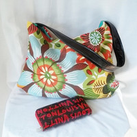 Hobo  Large Flower Print Hobo bag  READY TO SHIP by ACAmour