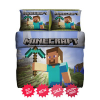 Set Gift Minecraft Fleece Blanket Large & 2 Pillow Case #85628142,85640369(2) - Home Deco On Line