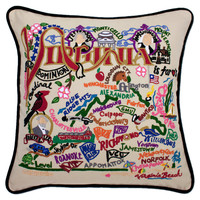 Virginia Hand Embroidered Pillow