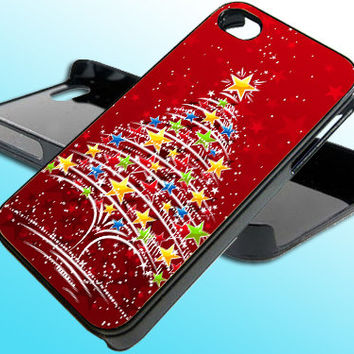 The Christmas Tree for iPhone 4/4s Case - iPhone 5 Case - Samsung S3 - Samsung S4 - Black - White (Option Please)