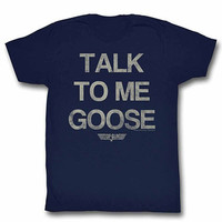Top Gun Talk Goose Blue T-Shirt