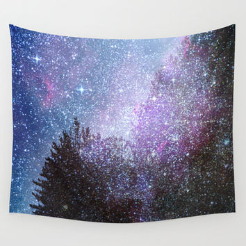Stars forest..... Cosmic. Wall Tapestry by Guido Montañés