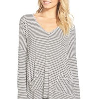Junior Women's Lush Two-Pocket Long Sleeve Tee,