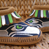 Custom Seattle Seahawks Moccasins