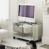 Mirrored 2-Door Media Cabinet