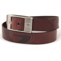 Georgia Bulldogs NCAA Men's Embossed Leather Belt (Size 34)