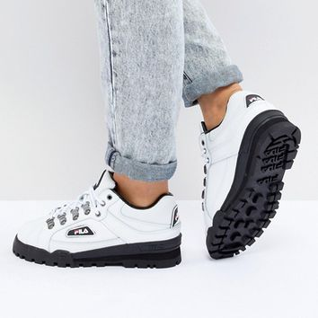 Fila Trail Blazer Boots In White at asos.com