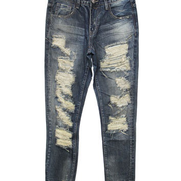 Embellish - Cougar Ripped Denim (Indigo)