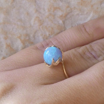 30% off-SALE!! Opal ring,gold ring,birthday gift for her, romantic gift ideas, every day rings, opal jewelry