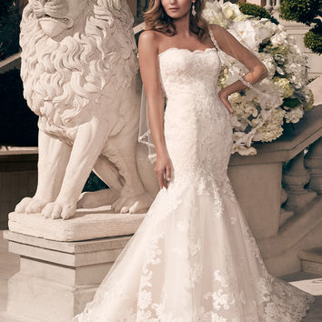 Casablanca Bridal 2163 Lace Mermaid Wedding Dress
