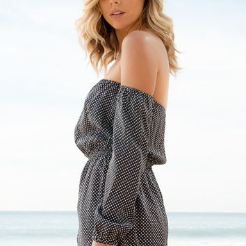 Flynn Skye - Long Sleeve Bae Romper | Orbit Maze