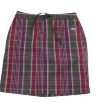 CHAPS womens Plaid career to Casual skirt Size 4 Purple Olive Red NWT