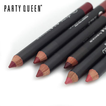 1 pc Multicolor Party Queen Lip Liner Pencil for Functional Eyebrow and Lip Makeup - Waterproof and Colorful