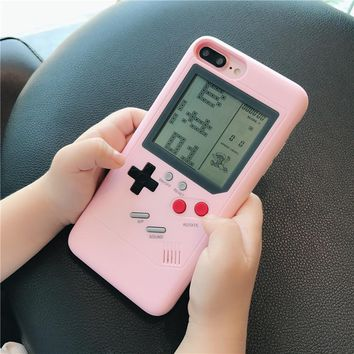 Tetris girl's mind game consoles iphone X shell
